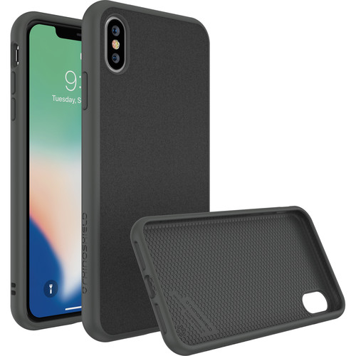 RhinoShield SolidSuit Case for iPhone XS Max (Graphite Microfiber Finish)