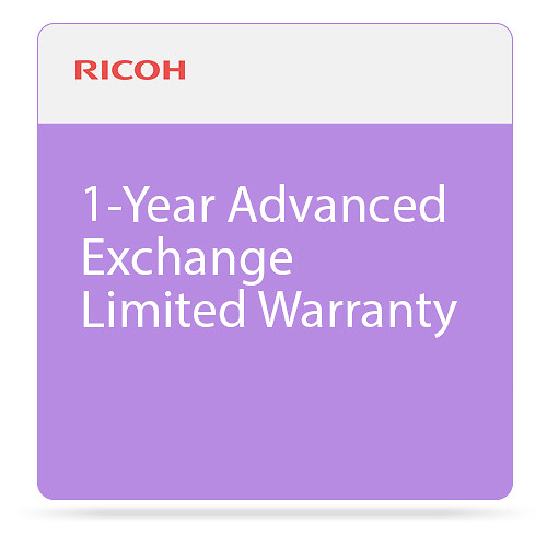 Ricoh 1-Year Advanced Exchange Limited Warranty for SP 325SFNw Printer