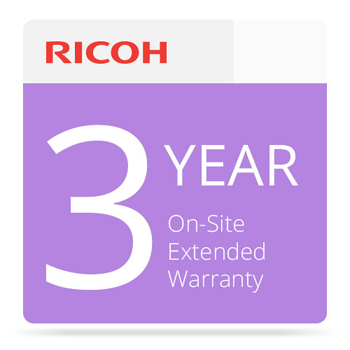 Ricoh 3-Year On-Site Extended Service Warranty for P C600 Color Laser Printer