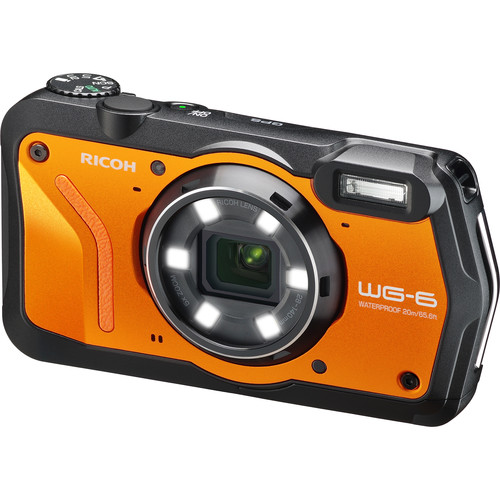 Ricoh WG-6 Digital Camera (Orange)