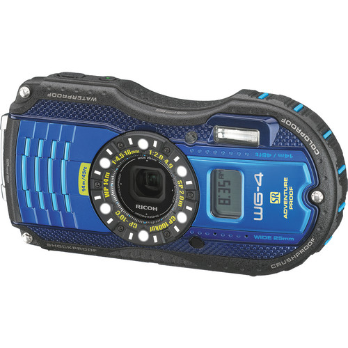 Ricoh WG-4 GPS Digital Camera (Blue)