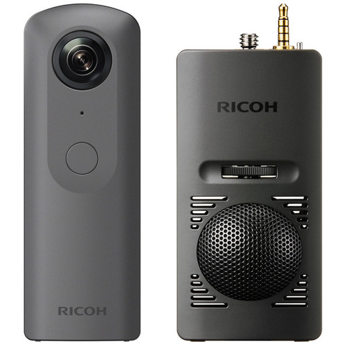 Ricoh THETA V 360 4K VR Camera Kit with TA-1 3D Microphone