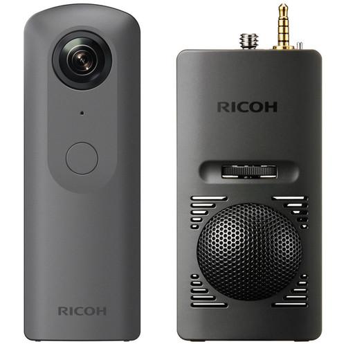 Ricoh THETA V 360 4K VR Camera Kit with TA-1 3D Microphone & Cleaning Kit