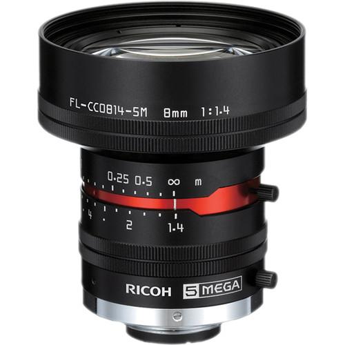 Ricoh C-Mount 8mm M Series 5 Mp Lens with Locking Screws