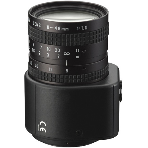 Pentax C-Mount 8-48mm F1.0-720 6x Manual Zoom Lens