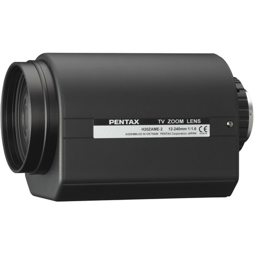 Pentax C-Mount 12-240mm Video Manual Override Auto-Iris Type-2 with D/A Lens