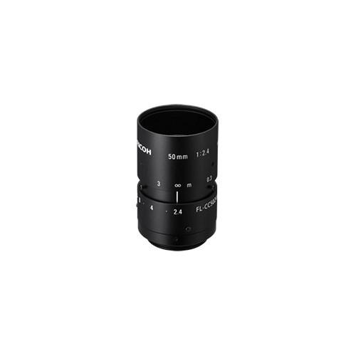 Ricoh FL-CC5024A-2M C-Mount 50mm f/2.4-22 FL Series Manual Iris Fixed Focal Lens