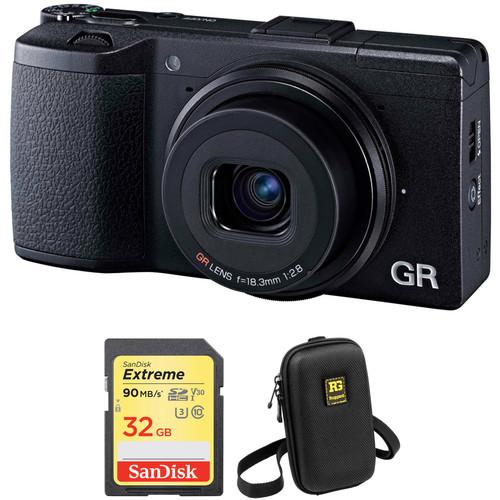 Ricoh GR II Digital Camera with Accessory Kit