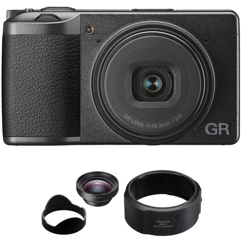 Ricoh GR III Digital Camera with GW-4 Wide Conversion Lens Kit