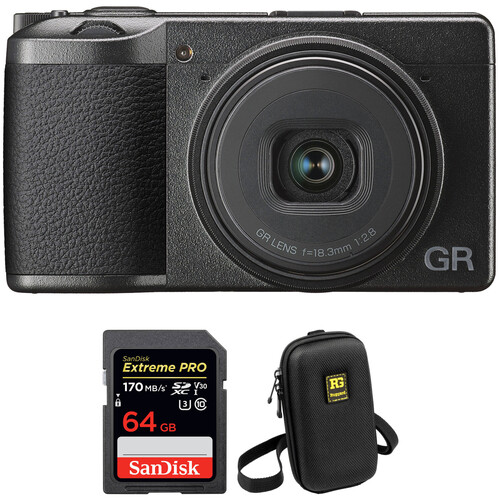 Ricoh GR III Digital Camera with Accessories Kit