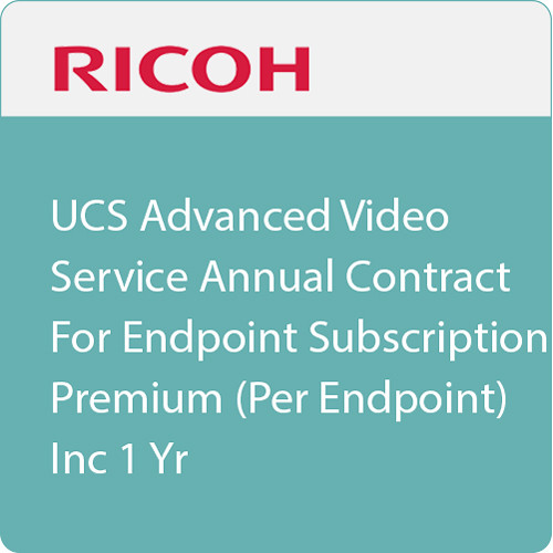 Ricoh UCS Advanced Endpoint Premium 1-Year Subscription (Download)