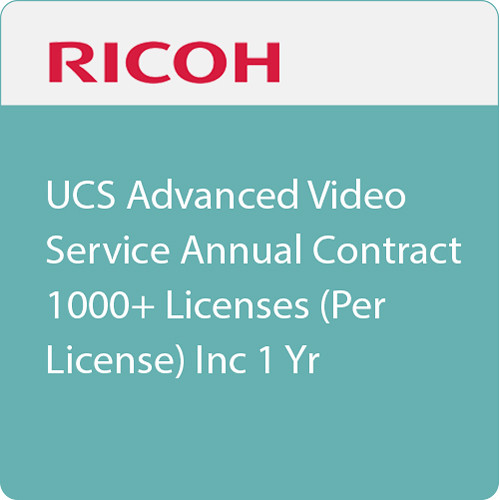 Ricoh Unified Communication System Advanced 1-Year Subscription (1000+ Licenses, Download)