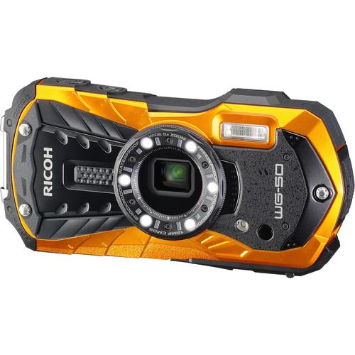 Ricoh WG-50 Digital Camera Deluxe Kit (Orange)