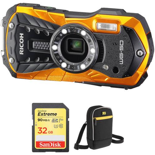 Ricoh WG-50 Digital Camera Basic Kit (Orange)