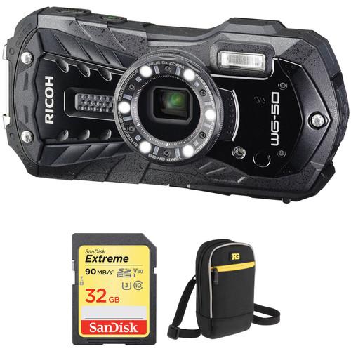 Ricoh WG-50 Digital Camera Basic Kit (Black)