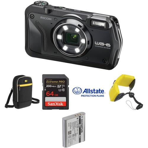Ricoh WG-6 Digital Camera Deluxe Kit (Black)