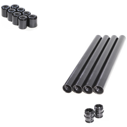 "RigWheels PortaRail Precision Collapsible Speed Rail Kit with Eight 19"" Sections & Two Connectors"