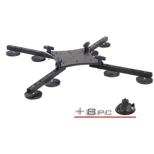 RigWheels RigMount XL Brushless Gimbal Mount with 8 Magnets and 8 Suction Cups