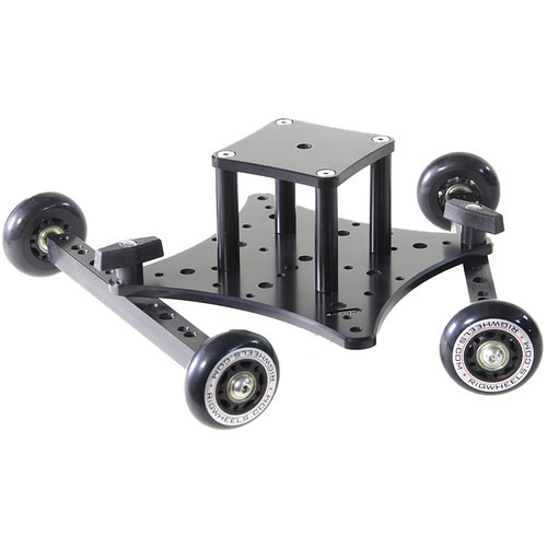 """RigWheels RigSkate 2 Tabletop/Skater Dolly with 3"""" Riser and Flat Base Adapter"""
