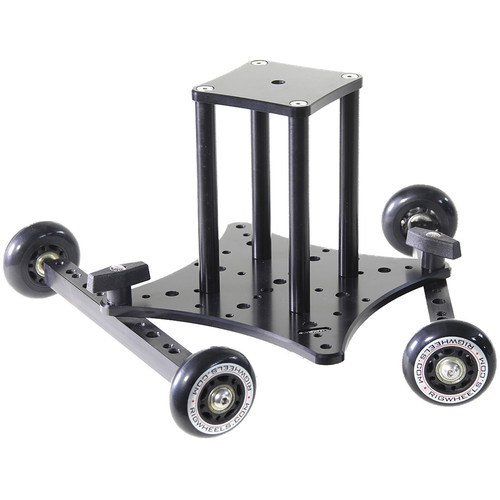 """RigWheels RigSkate 2 Tabletop/Skater Dolly with 6"""" Riser and Flat Base Adapter"""