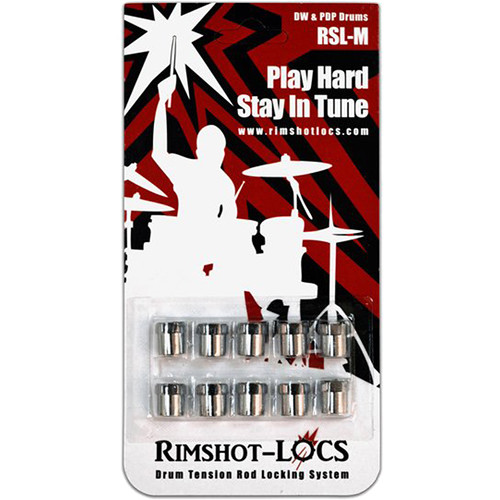 Rimshot-Locs RSL-MINI-DW-PDP Drum Tension Rod Lock for DW & PDP Smaller Drums & Snares (10-Pack)