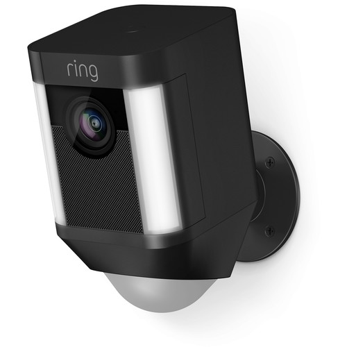 Ring Spotlight Cam 1080p Outdoor Wi-Fi Camera with Night Vision (Battery-Powered, Black)