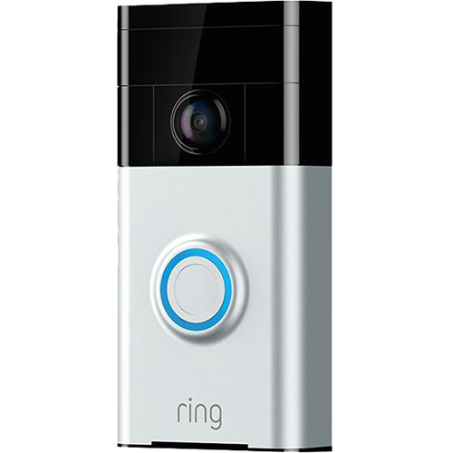 Ring Video Doorbell with Stick Up Camera Kit (Satin Nickel)