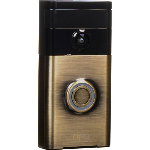 Ring Video Doorbell with Stick Up Camera Kit (Antique Brass)