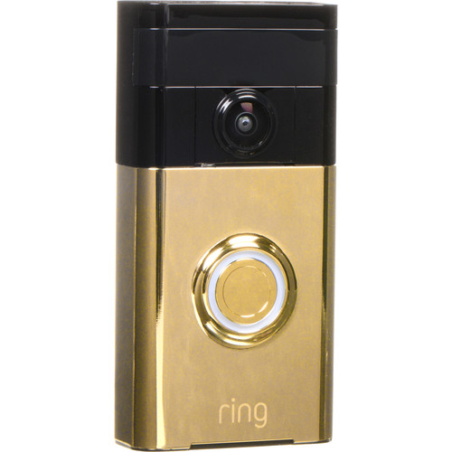 Ring Video Doorbell with Stick Up Camera Kit (Polished Brass)