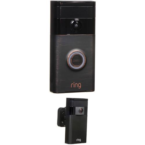 Ring Video Doorbell with Stick Up Camera Kit (Venetian Bronze)
