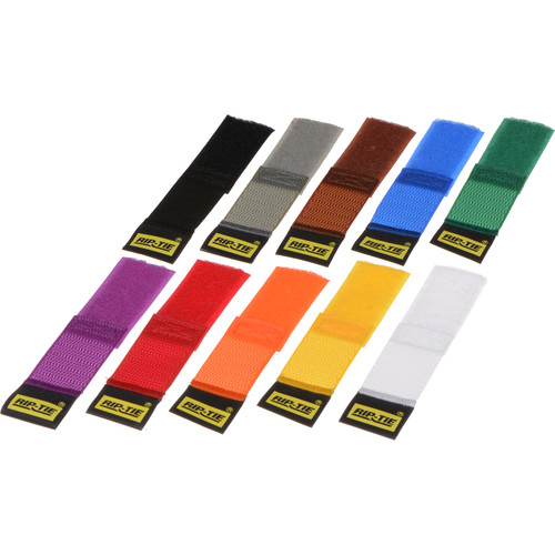 "Rip-Tie CableWrap 1 x 3"" (Rainbow 10 Pack)"