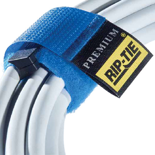 """Rip-Tie 1 x 3.5"""" Rip-Lock CableWrap 10-Pack (Black)"""