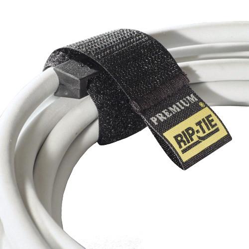 """Rip-Tie 1 x 4.5"""" Rip-Lock CableWrap 10-Pack (Black)"""