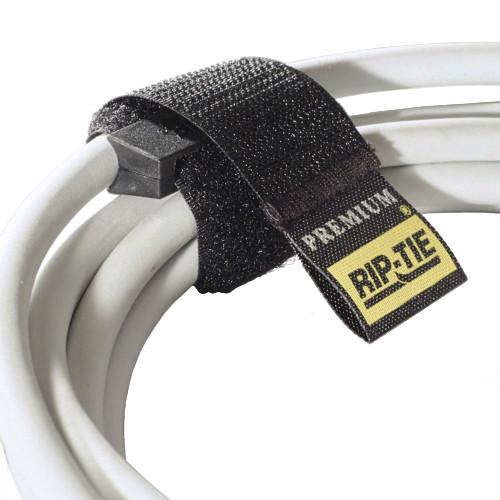 """Rip-Tie 1 x 14.5"""" Rip-Lock CableWrap 10-Pack (Black)"""