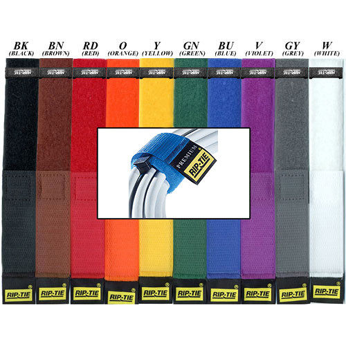 "Rip-Tie 1 x 21.5"" Rip-Lock CableWrap 10-Pack (Rainbow)"