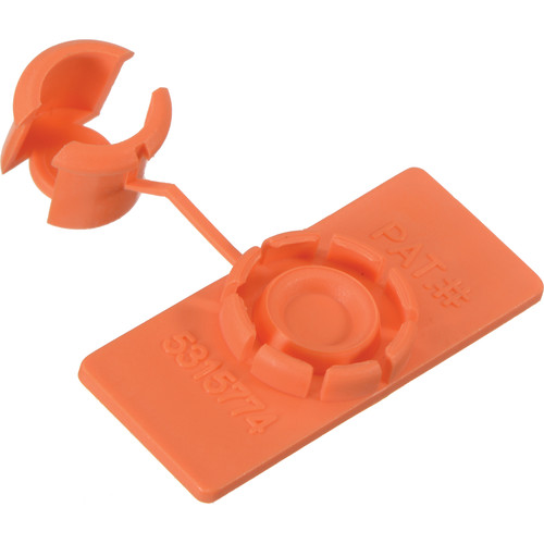 "Rip-Tie Unitag Cable Marker - 0.62 x 1.5"" (50 Pack, Orange)"
