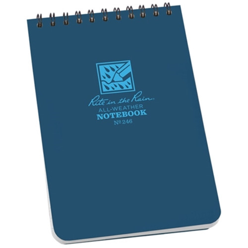 """Rite in The Rain All-Weather Top-Spiral Pocket Notebook (4 x 6"""", Blue)"""