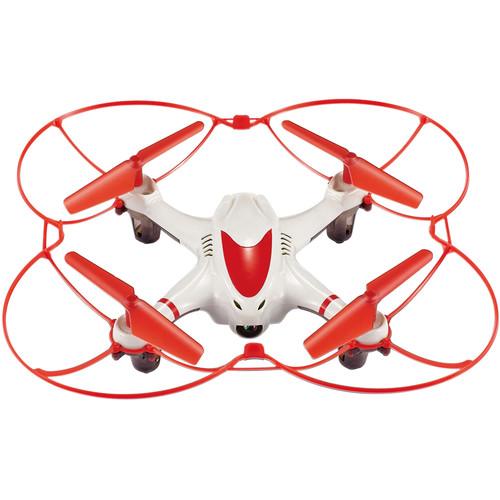 Riviera Nano Cam Quadcopter (White/Red)