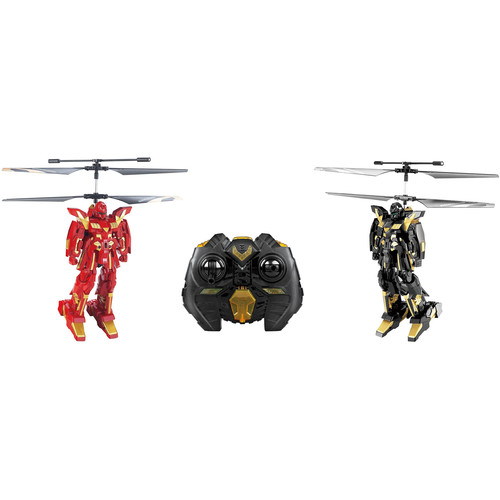 Riviera RC 3-Channel Battle Robot with Gyro (2-Pack, Black/Red)