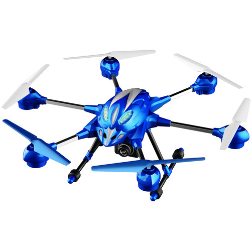Riviera RC Pathfinder 5.8 GHz FPV Hexacopter (Blue)