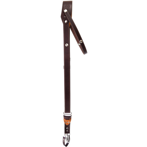 RL Handcrafts Andino DLX Leather Camera Sling (Medium, Coffee/Tan)