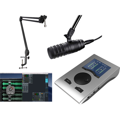 RME Babyface Pro All-In-One Podcasting Bundle with Audio-Technica BP40, Total FX Bundle & More