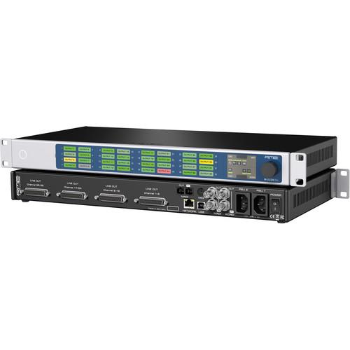 "RME 32-Channel, MADI & AVB/TSN to Analog Converter, 19"", 1RU"