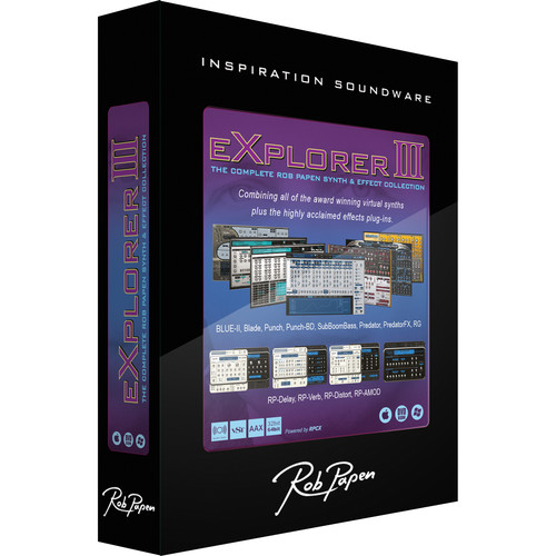 Rob Papen Explorer III - Virtual Instruments and Effects Bundle