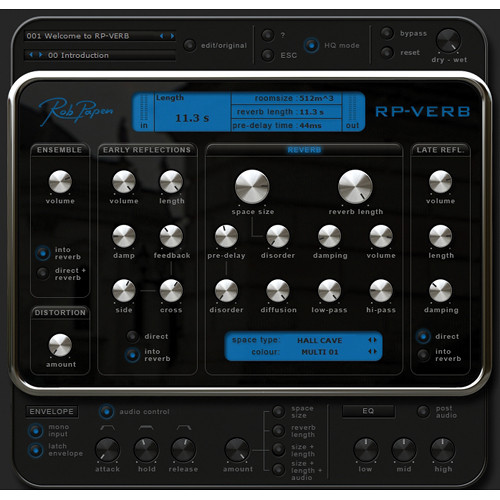 Rob Papen RP-Verb - Reverb Plug-in (Upgrade)