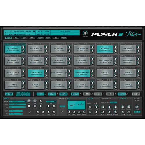 Rob Papen Punch 2 - Virtual Drum Instrument (Upgrade from Version 1, Download)