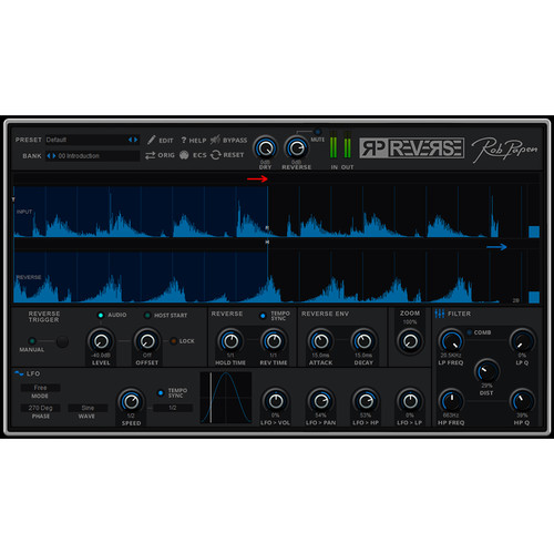 Rob Papen RP-Reverse - Reverse Effect Software for Pro Audio Applications (Download)