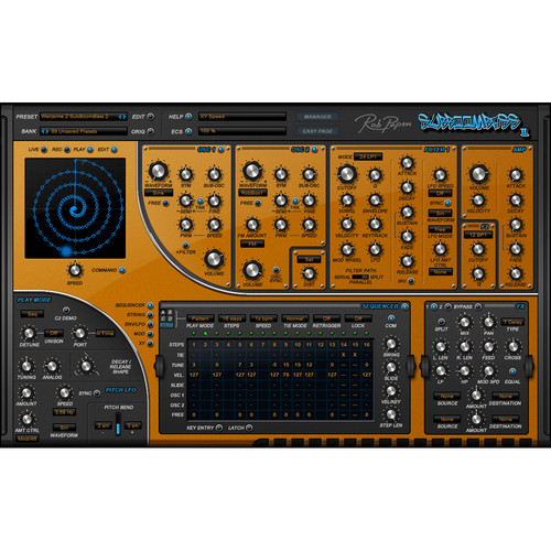 Rob Papen SubBoomBass 2 - Virtual Instrument Plugin (Download, Upgrade)