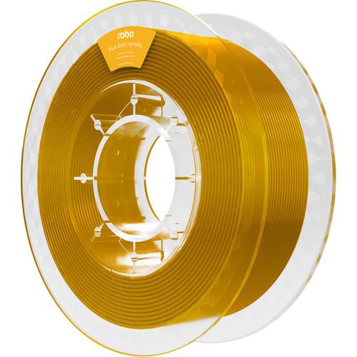 ROBO 3D 1.75mm PLA Filament (500g, Gold Metallic)