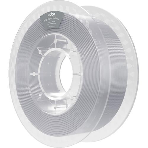 ROBO 3D 1.75mm PLA Filament (500g, Silver Metallic)